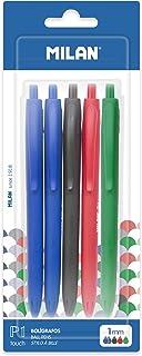Blister 5 bolígrafos P1 Touch, 2 x azul, negro, rojo y verde NOVEDAD