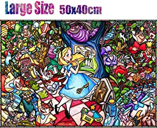 5D Diamond Painting Full Drill Kit - Alice in Wonderland - 20x16 inch DIY Diamond Painting by Number Kits, Embroidery Rhinestone Crystal Drawing for Wall Decor, Arts Craft Mosaic Painting 50x40cm