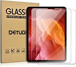 [2-Pack] iPad Pro 11 Screen Protector,DETUOSI Anti-Scratch Bubble Free Tempered Glass Film for 2018 iPad Pro 11 inch Tablet Tempered Glass Screen Protector