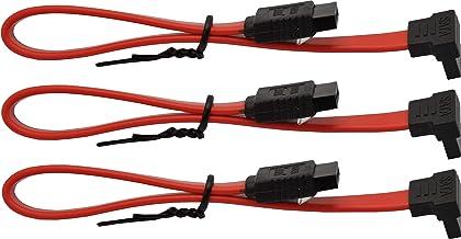 "MoCoSo SATA 90° Cables (8"", Red, 3)"