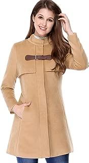 Women's Stand Collar Zip Up Outerwear Flare Winter Long Coat