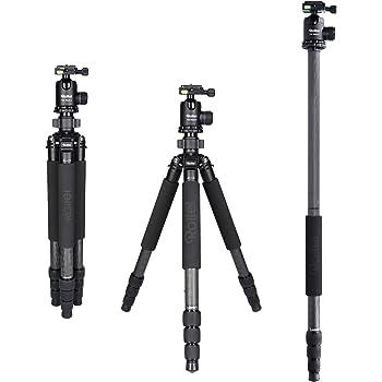 Rollei Rock Solid Beta Mark II inkl Kugelkopf T5S Carbon, professionelles Kamera Stativ mit 25kg Tragkraft I Ideal für Reise und Naturfotografie
