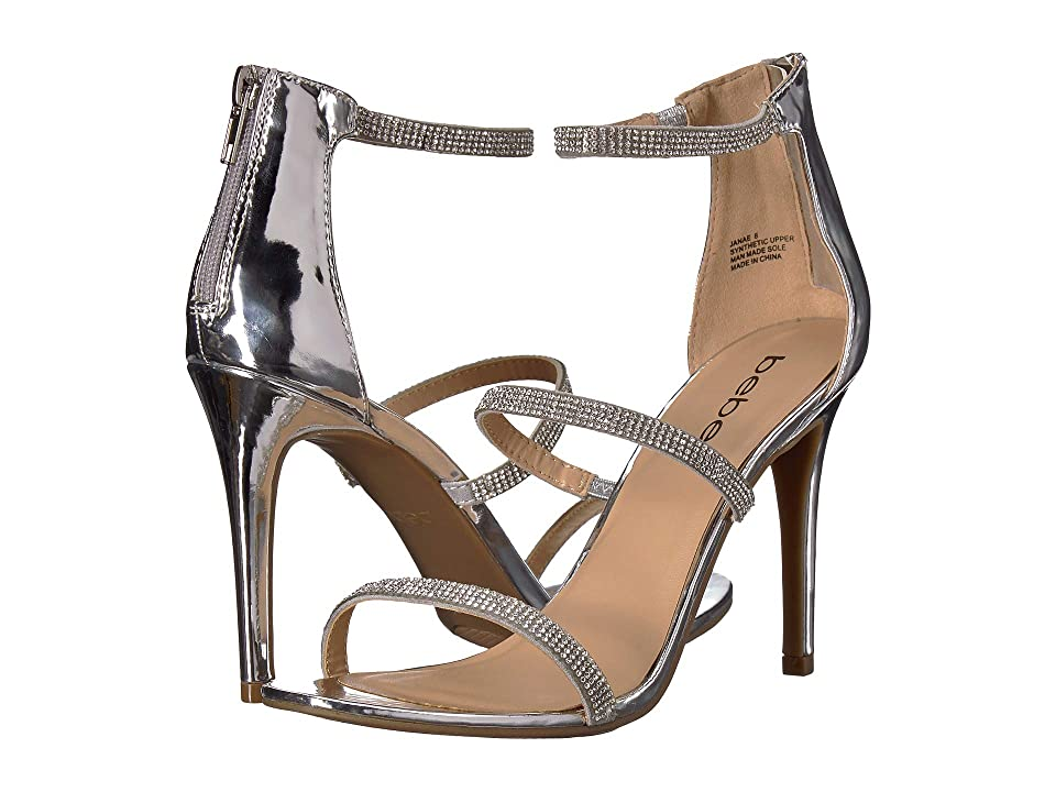 Bebe Janae (Silver Metallic) High Heels