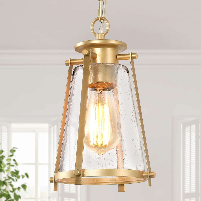 Buy KSANA Gold Pendant Lighting for Kitchen Island, Hanging Brass ...