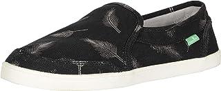 حذاء مسطح من Sanuk Women's Pair O Dice Prints بدون كعب ، أسود/فضي، 10 M US