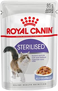 Royal Canin FHN Sterilised Jelly Wet Food Pouches Box of 12x85g Feline Breed Nutrition Cat Food
