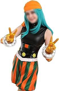 CHENJUNAMZ Broma ms Cosplay mi héroe Academia de Cosplay de la Sonrisa héroe emi Fukukado Cosplay Traje con el pañuelo de ...