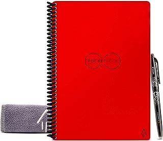 Rocketbook - Cuaderno de espiral reutilizable borrable, Rojo atómico, Ejecutivo