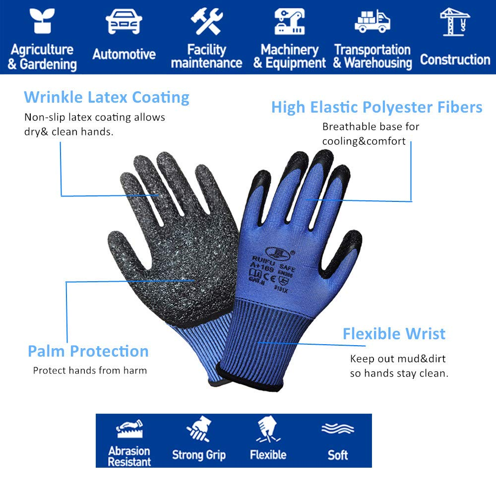 3 Pairs Multicolored Women Gardening Gloves Superior Grip Work Gloves Multipurpose for regular construction logistics Small warehousing,landscaping and DIY works