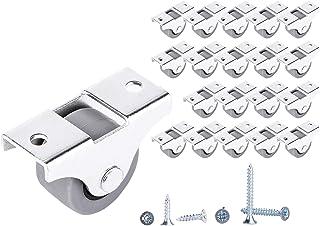 Rueda de goma y plástico con placa de metal de 25 mm de movimiento suave para muebles