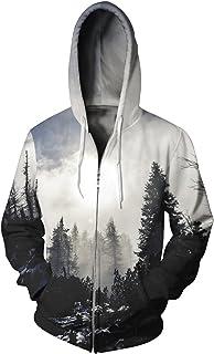 HOP FASHION Unisex Casual Long Sleeve Zipper up Hoodies Sweatshirts 3D Print