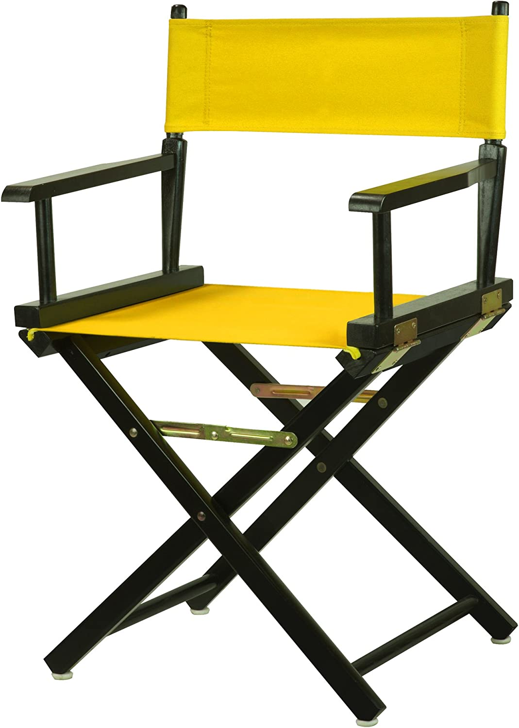 Casual Home 200-02 021-34 Director's Chair Black Frame Canvas, 18 -Classic Height, gold