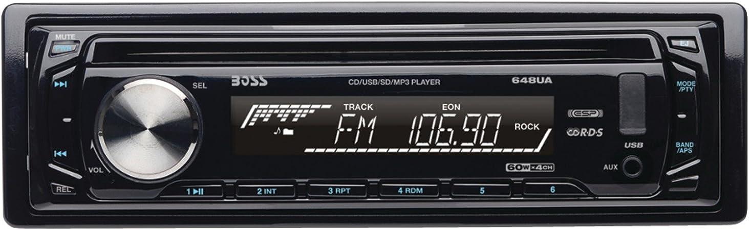 Amazon.com: BOSS Audio Systems 648UA Single-DIN MP3 Player Receiver: Car  ElectronicsAmazon.com