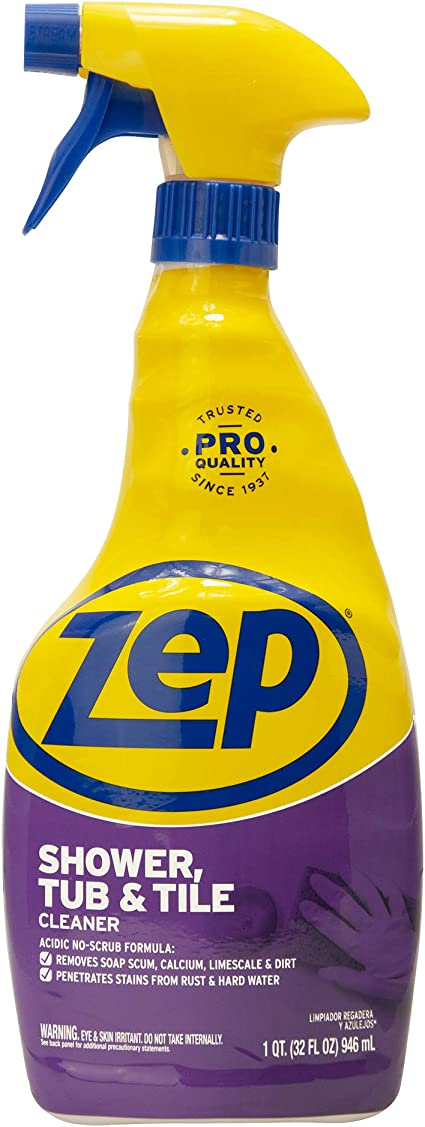 Amazon Com Zep Shower Tub And Tile Cleaner 32 Oz Zustt32pf 32 Fl Oz Health Personal Care