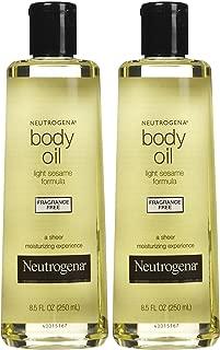 Neutrogena Body Oil, Fragrance Free, 8.5 oz, 2 pk