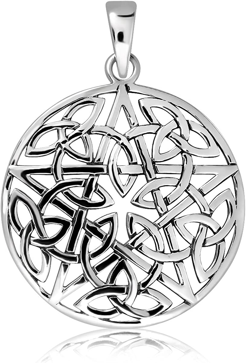 WithLoveSilver Outstanding Sterling Silver 925 Celtic Knot Attention brand Trinity Pentacle