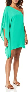 cupcakes and cashmere womens deliz crepe one shoulder cape sleeve dress Dress
