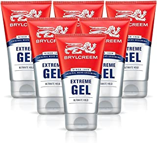 6X BRYLCREEM EXTREME ULTIMATE HOLD GEL 150ML MENS HAIR STYLING VITAMIN B5 by Brylcreem