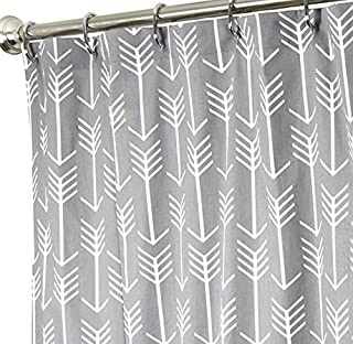 Cloud Dream Arrow Gray Polyester Fabric Bathroom Shower Curtain Set with Hooks,48 x 72-Inch,Grey and White