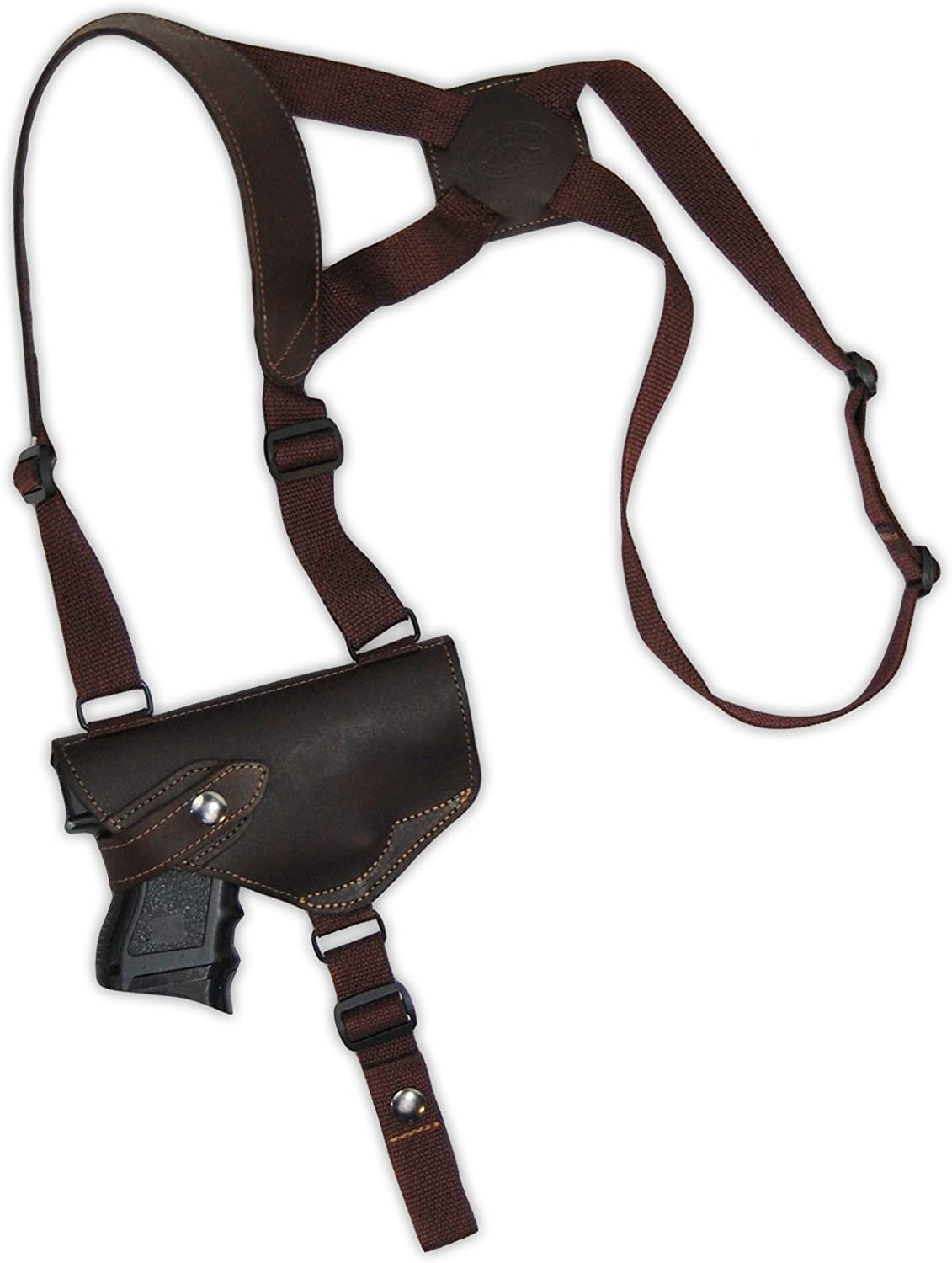 New Barsony Brown Leather Shoulder Holster for Limited price sale 40 Max 66% OFF 45 Compact 9mm