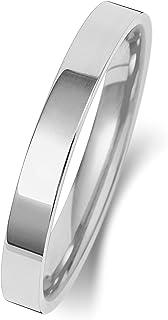 Anello Fede Nuziale Uomo/Donna 2,5mm in Oro bianco 9k (375) WJS151539KW
