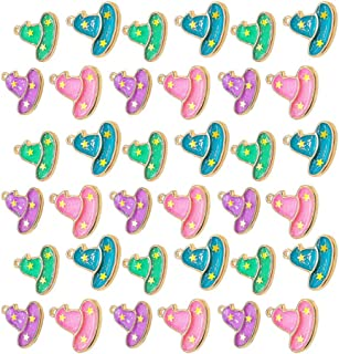 ULTNICE 40pcs Halloween Charms Halloween Pendant Witch Hat Enamel charms for DIY Jewelry Making Necklace Bracelet Earring ...