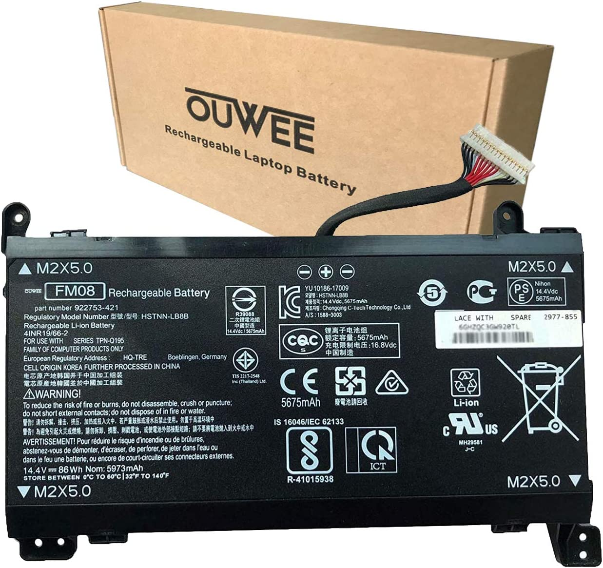 OUWEE HSTNN-LB8B FM08 Max Limited price 50% OFF Laptop Battery HP with Compatible 17- Omen