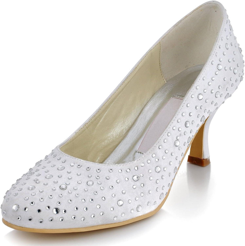 Minitoo GYMZ685 Womens Sparkle Satin Evening Party Prom Bridal Wedding shoes Pumps Sandals Flatfs