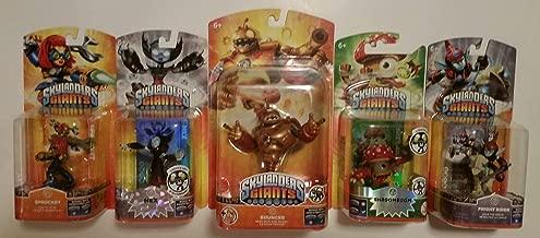 Skylanders Giants Action Figures Bundle : Bouncer , Hex , Shroomboom , Fright Rider , Sprocket (5) Figures