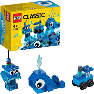 LEGO Classic Creative Blue Bricks 11006 Kids' Building Toy Starter Set with Blue Bricks to Inspire Imaginative Play