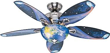 Hunter Fan Company 52298 Discovery Ceiling Fan, 48, Brushed Nickel