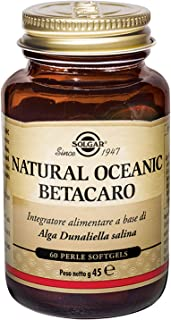 Solgar Oceanic Beta-Carotene 25,000 IU, 60 Softgels - Healthy Vision, Skin & Immune System, Potent Antioxidant - 100% Natu...