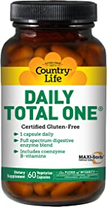Country Life Daily Total One with Iron - 60 Vegetarian Capsules
