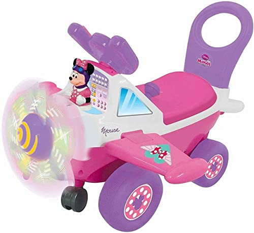 slamtech_online Kiddieland Disney Minnie Mouse Plane Kid's Activity Ride-on with Sounds and Lights