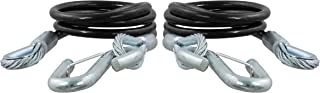 CURT 80151 44-1/2-Inch Nylon-Coated Trailer Safety Cables, 7/16-Inch Snap Hooks 5,000 lbs. Break Strength, 2-Pack