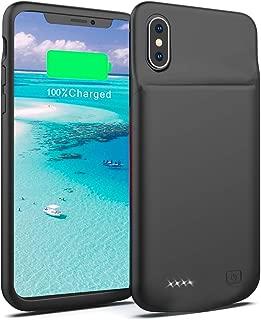 JOYZON バッテリー内蔵ケース 5000mA 超薄 大容量 iPhone Xs Max 専用 バッテリーケース 軽量 急速充電 超便利 耐衝撃 ケース型バッテリー 携帯充電器 モバイルバッテリー 200%バッテリー容量追加 (iPhone Xs Max)