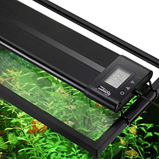 hygger Auto On Off 18-42 Inch LED Aquarium Light Extendable Dimmable 7 Colors Full Spectrum Light Fixture for Freshwater Planted Tank Build in Timer Sunrise Sunset