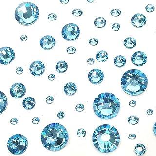 AQUAMARINE (202) lake blue 144 pcs Swarovski 2058 2088 Crystal Flatbacks  lake blue e6d45b3dde18