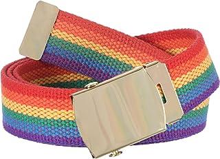 Gary Majdell Sport 儿童 1 件 1⁄4 英寸宽裁剪适合彩虹骄傲帆布腰带