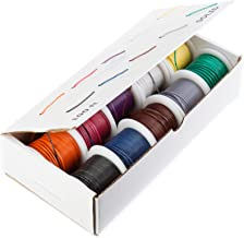 26 AWG Gauge Stranded Hook Up Wire Kit, 100 ft Length, 10 Colors, 0.0190