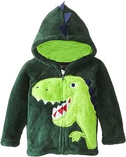 Little Boys Animal Dinosaur Fur Fleece Hoodies Coat Jackets, Green, 4-5 years
