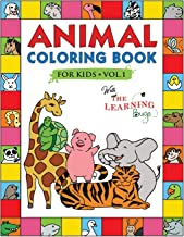 Animal Coloring Book for Kids with The Learning Bugs Vol.1: Fun Children's Coloring Book for Toddlers & Kids Ages 3-8 with...