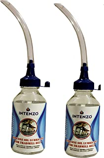 Intenzo Silicone Oil Lubricant for Treadmill Belt Pack of 2 Each in 100ml in Easy Dispenser Bottle