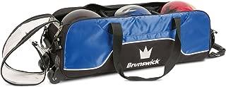 Brunswick Crown Triple Tote No Pouch Bowling Bag, Royal