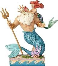 Disney Traditions 4059730 Daddy's Little Princess Ariel and Triton Figurine, 17 x 9 x 25 cm