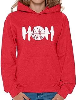 Women's Basketball MOM Sport Mom Graphic Hoodie Tops White Idea