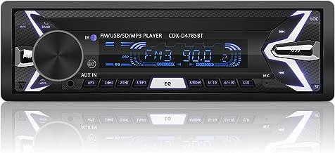 YOHOOLYO Radio Coche Bluetooth Auto Radio FM USB MP3 Audio Estéreo Manos Libres In-Dash (Caratula Extraíble)