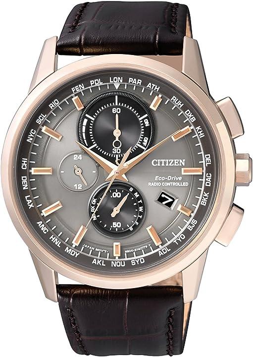 Orologio da polso citizen da uomo radio controlled cronografo al quarzo in pelle at8113 – 12h AT8113-12H