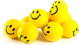 Neliblu Why Worry? Be Happy! Fun Bulk Toys Party Favors, Office Gifts - Neon Yellow Smile Funny Face Stress Ball - Happy Smile Face Stress Balls Bulk Pack of 12 2