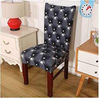 Lovely-cloud 1/2/4/6 Pieces Anti Dirty Elastic Stretch Dining Chair Cover Geometric Printing Flexible Removable Slipcover Seat Cases,Color 14,1Pc Chair Cover